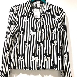 NWT Disney Mickey Mouse H&M Button Blouse